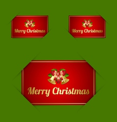 Merry Christmas card holders vector image