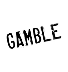 Gamble rubber stamp vector