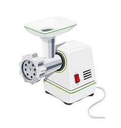 Electric meat grinder kitchen vector