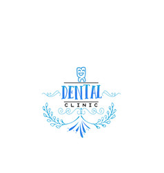 Typographic badges - dental clinic on the basis vector