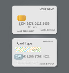 Bank credit card white template vector