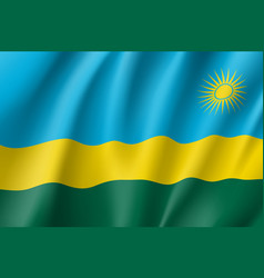 national flag of rwanda vector image