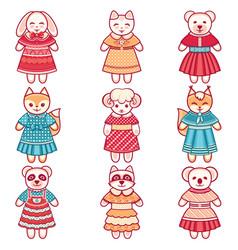 Kid toy cute set vector