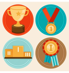 Awards medals vector