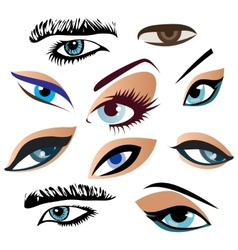 Symbolic abstract eyes vector
