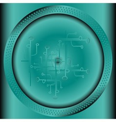 Technology background with circle vector