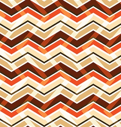 Brown zig zag seamless pattern vector