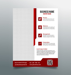 Corporate business flyer template - red design vector