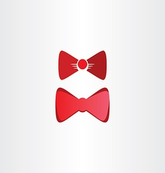 Red bow tie symbol design elements vector
