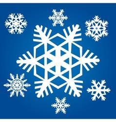 original snowflakes vector image