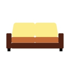 Sofa furniture flat icon vector