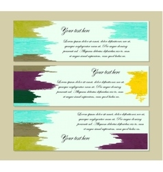 set of modern banners vector image