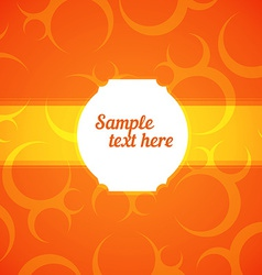 Abstract frame with orange background vector
