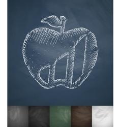 apple icon Hand drawn vector image vector image