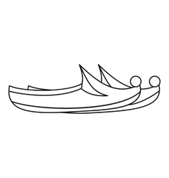 Arabian khussa icon outline style vector
