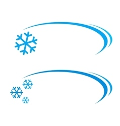 Background with snowflake vector