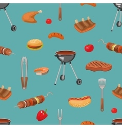 Barbecue essentials pattern vector