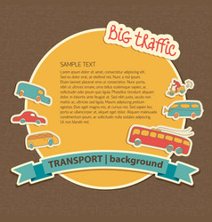 big traffic background vector image vector image
