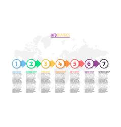 Business infographics presentation slide chart vector