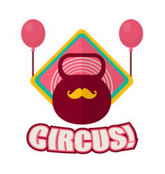 Circus promotional logotype with weight and vector