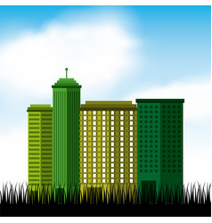 city green ecology cityscape vector image
