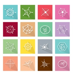Collection of 16 Business Geometry Chart Banner vector image vector image