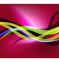 Colorful bright lines background design vector image