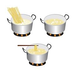 Cook spaghetti vector