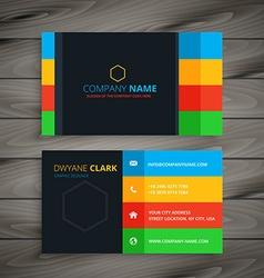 Dark simple business card vector