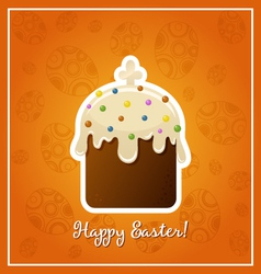 Easter background with easter cake illistration vector