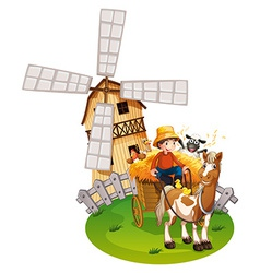 Farm boy vector