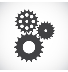 Flat Gear Icon Cooperation and Teamwork Concept vector image vector image