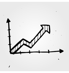 Hand drawn business chart vector