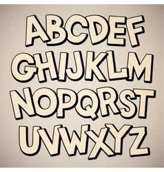 Hand drawn cartoon doodle font vector