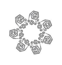 Hand drawn zentangle - vector image vector image