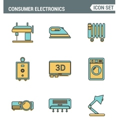 Icons line set premium quality of home appliances vector image vector image