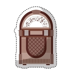 Jukebox audio isolated icon vector