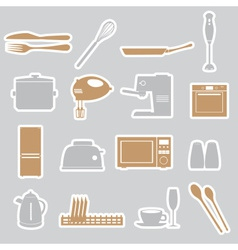 kitchen stickers set eps10 vector image vector image