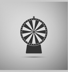 lucky wheel flat icon on grey background vector image vector image