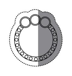 Monochrome sticker of circular speech with three vector