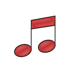Musical note tone vector