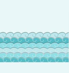 Paper wave seascape vector