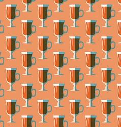 Pop art mulled wine glass seamless pattern vector