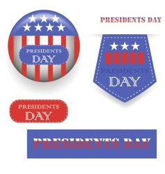 Presidents Day Icons vector image vector image