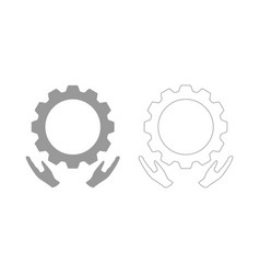 Preventative maintenance set icon vector