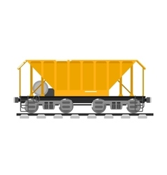 Railway wagon isolated on white background vector