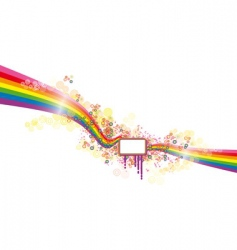 rainbow banner vector image vector image