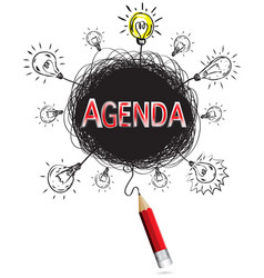 red pencil idea concept red agenda business vector image vector image