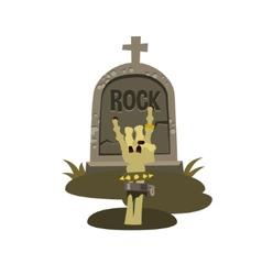 Rock is dead and sign of the horns vector image vector image
