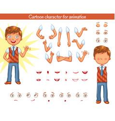 schoolboy parts of body template vector image